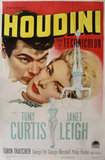 Tony Curtis and Janet Leigh in Houdini
