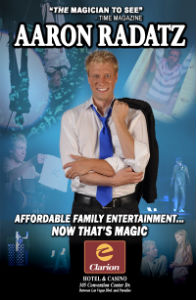 Inside Magic Image of Aaron Radatz Poster for New Show in Las Vegas