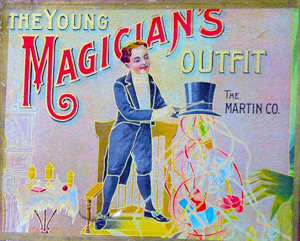 Inside Magic Image of 1900's Magic Kit Sold by F. W. Martin Co.